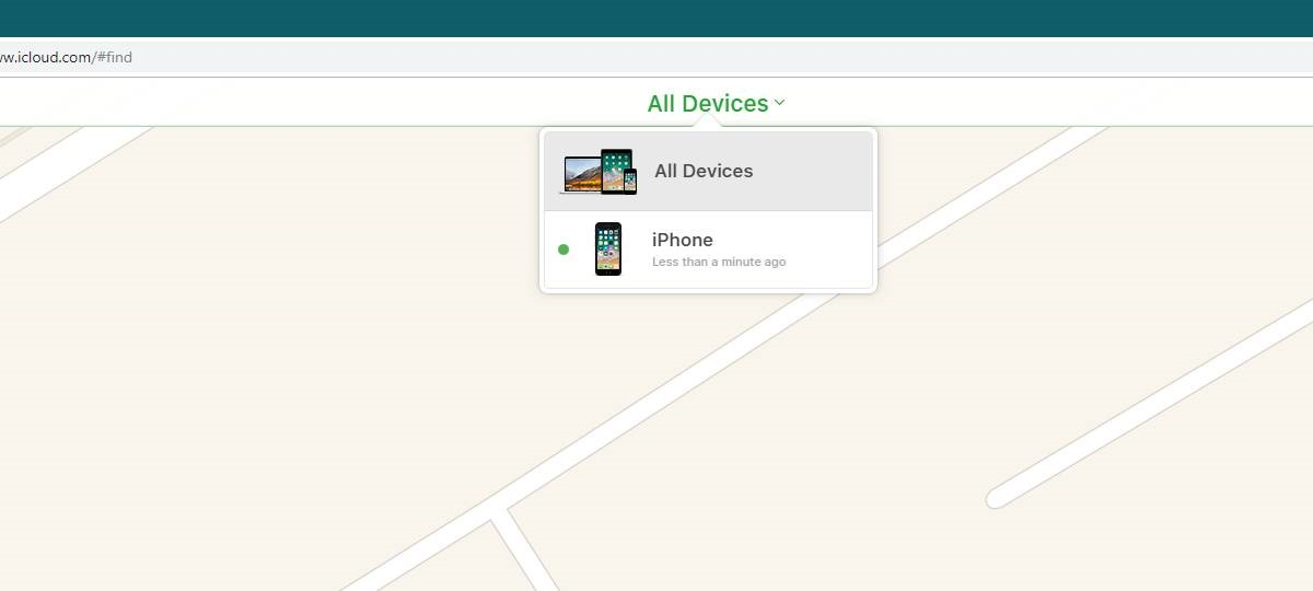 Choose the device for remotely wiping data from iPhone