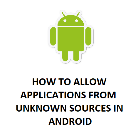 HOW TO ALLOW APPLICATIONS FROM UNKNOWN SOURCES IN ANDROID