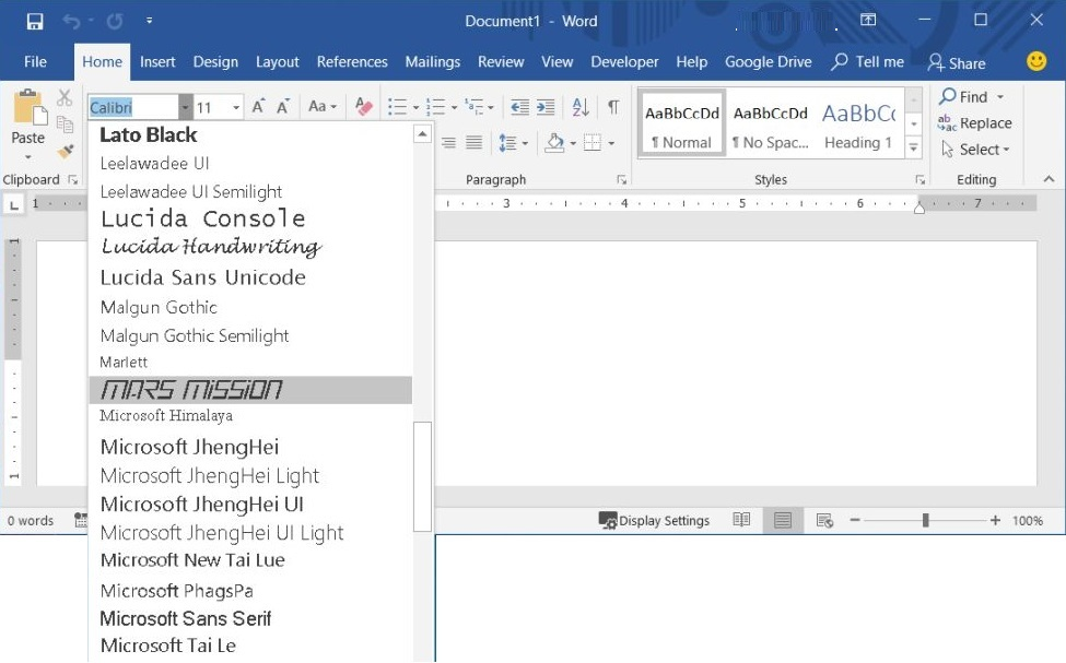 HOW TO INSTALL FONTS FOR MICROSOFT WORD