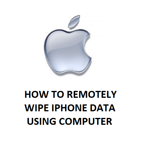 HOW TO REMOTELY WIPE IPHONE DATA USING COMPUTER