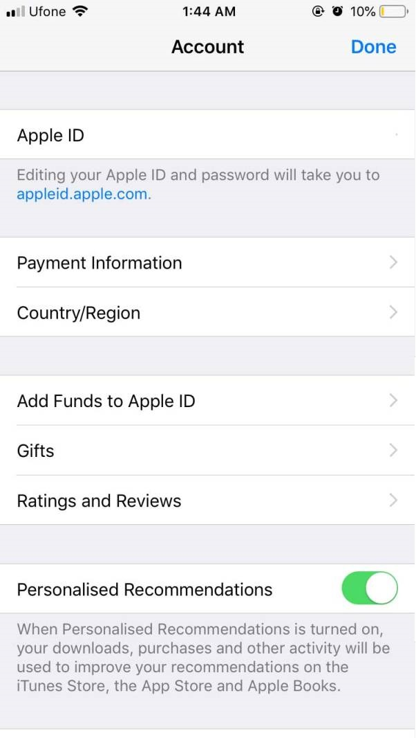 Add Funds to Apple ID from iPhone
