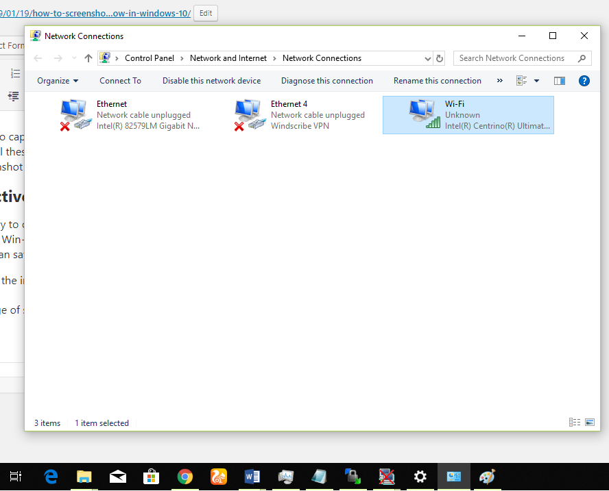 Capture Currently Active Window in Windows 10
