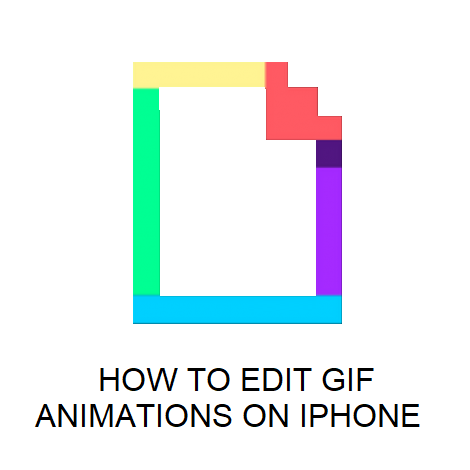 HOW TO EDIT GIF ANIMATIONS ON IPHONE