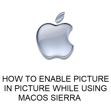 HOW TO ENABLE PICTURE IN PICTURE WHILE USING MACOS