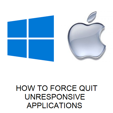 HOW TO FORCE QUIT UNRESPONSIVE APPLICATIONS