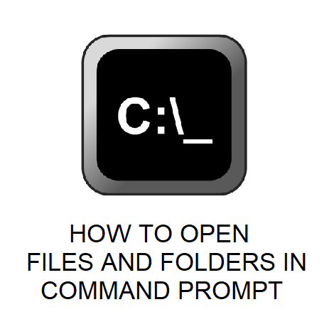 HOW TO OPEN FILES AND FOLDERS IN COMMAND PROMPT