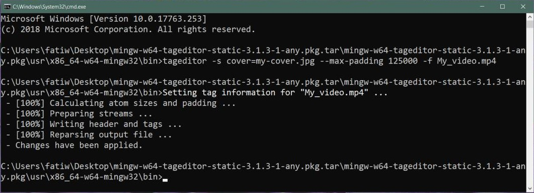 Open Tag Editor with Command Prompt