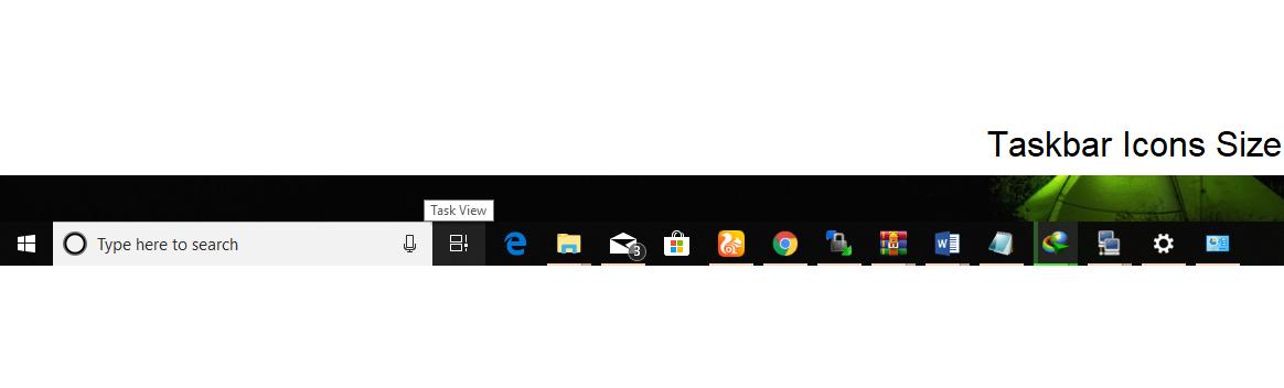 AddaptiveTaskbar icon size