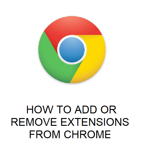 HOW TO ADD OR REMOVE EXTENSIONS FROM CHROME