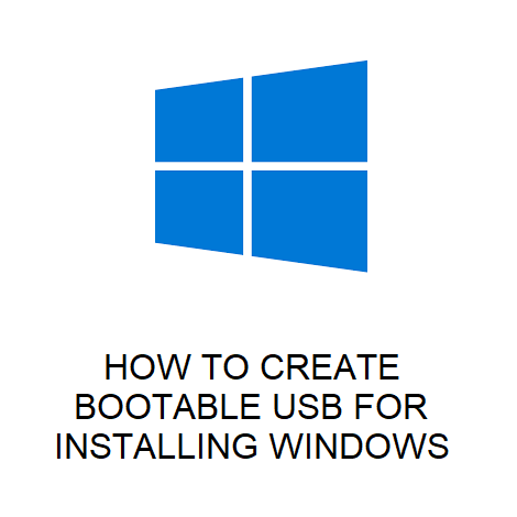 HOW TO CREATE BOOTABLE USB FOR INSTALLING WINDOWS