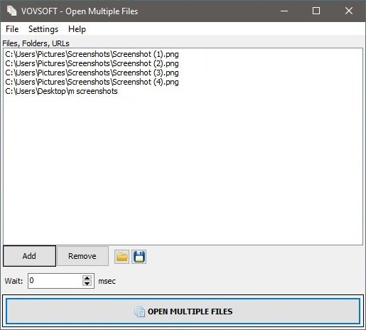 Create a List of Files to Open at Once in Open Multiple Files Application
