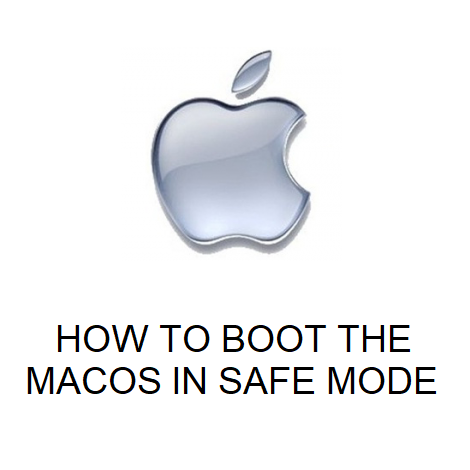 HOW TO BOOT THE MACOS IN SAFE MODE
