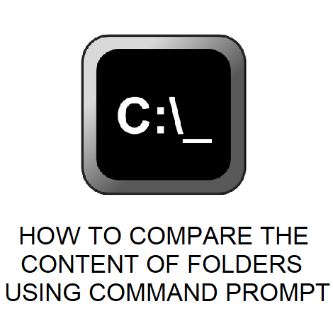 HOW TO COMPARE THE CONTENT OF FOLDERS USING COMMAND PROMPT