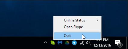 Quit Skype Desktop