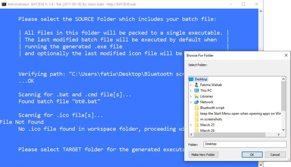 BAT2EXE Converter for Windows