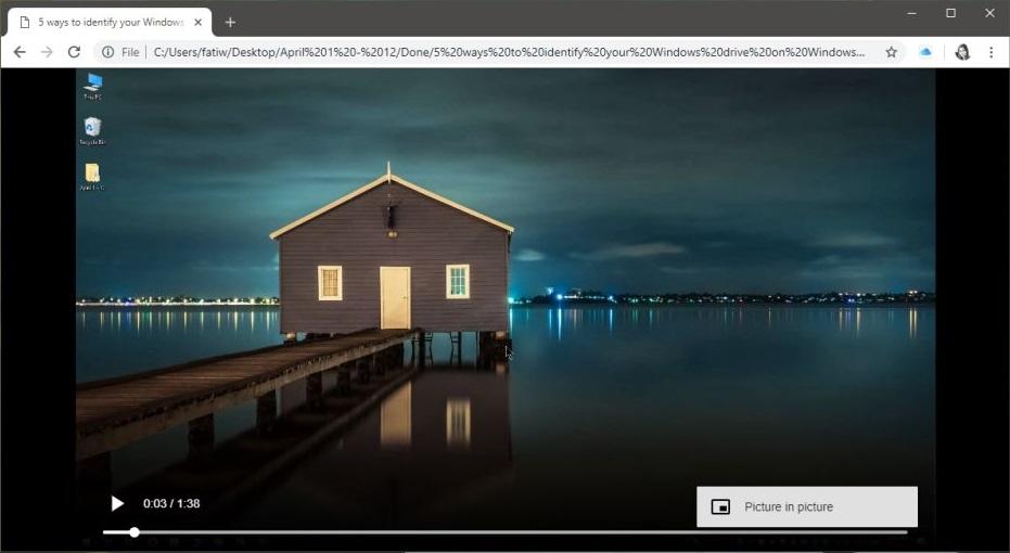 Google Chrome Picture in Picture