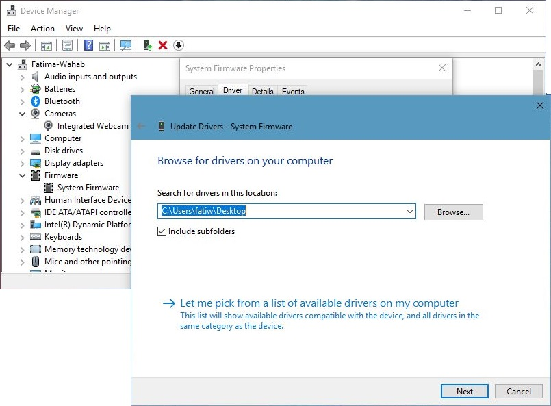 Install Drivers from Disk on Windows 10