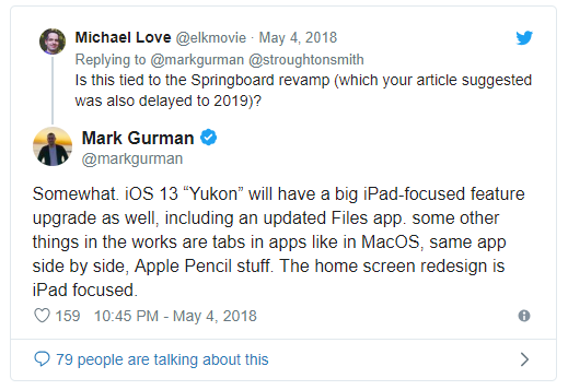 Mark Gurman on iOS 13