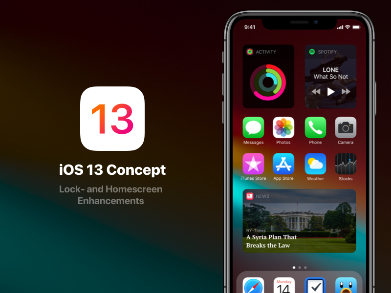 iOS 13 Look and Feel