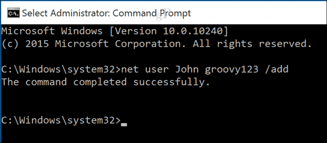 Create new user from PowerShell