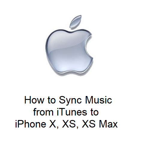 How to Sync Music from iTunes to iPhone X, XS, XS Max