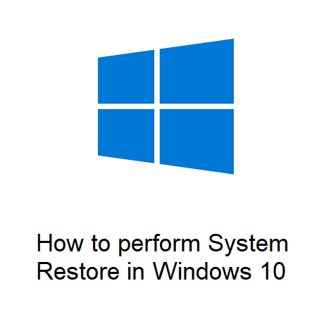 How to perform System Restore in Windows 10