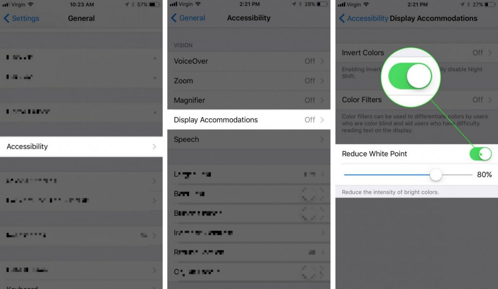 Reduce While Spot in iOS