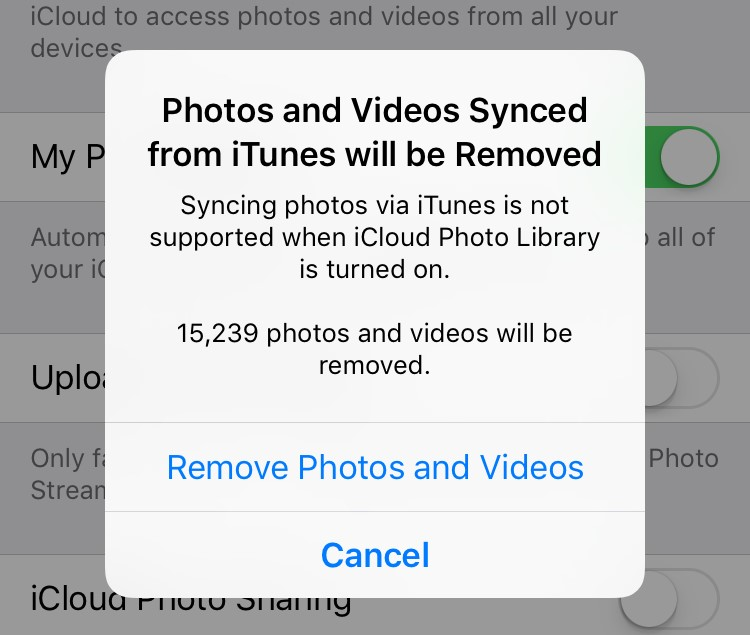 Remove Synchronized Photos and Videos from iTunes