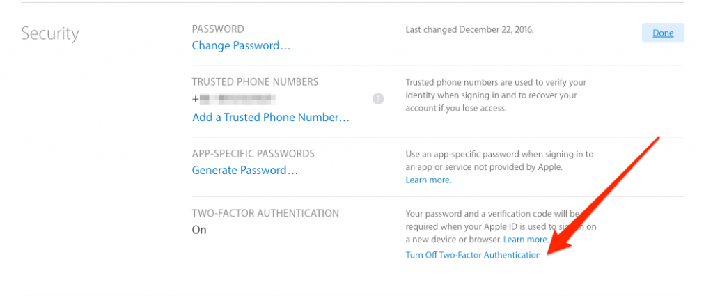 Turn on Two Factor Authentication