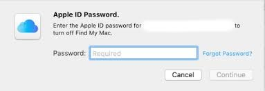Apple ID Password for Turning Off Find My iPhone MAC
