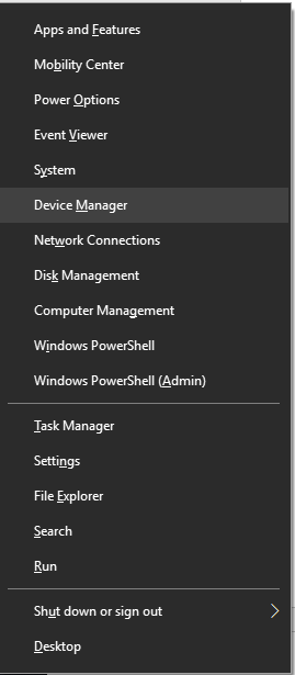 Device Manager from Context Menu