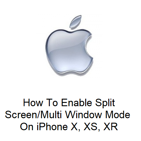 How To Enable Split Screen Multi Window Mode On iPhone X, XS, XR