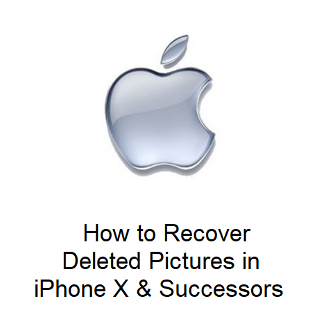 How to Recover Deleted Pictures in iPhone X & Successors