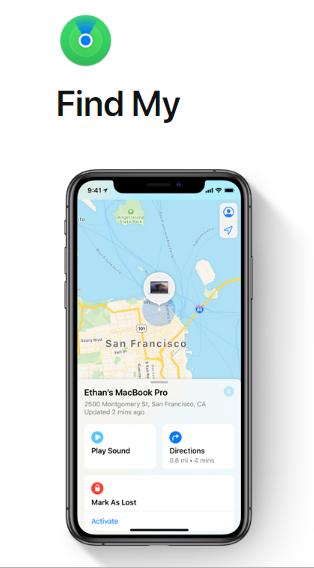 FindMy App in macOS Catalina