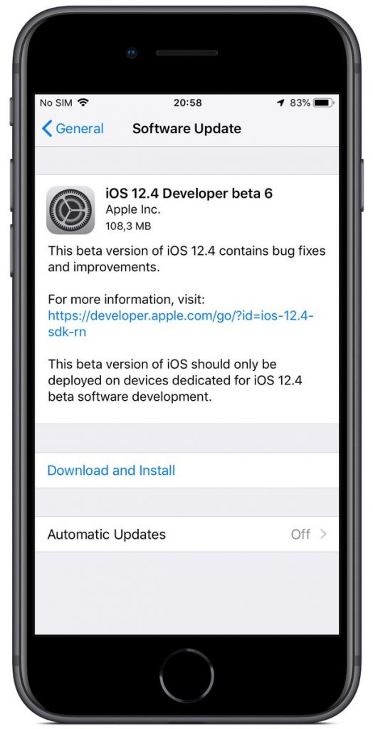 iOS 12.4 Developer Beta
