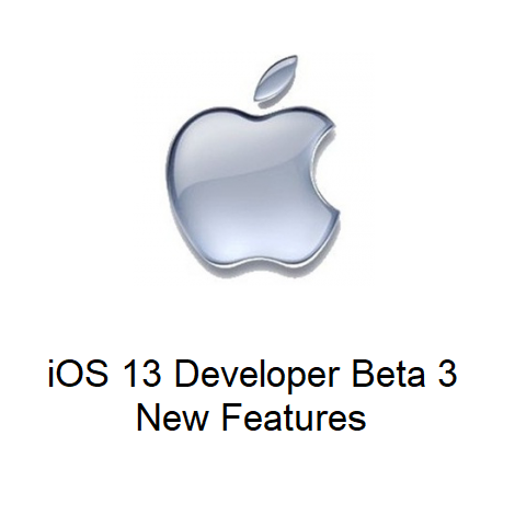iOS 13 Developer Beta 3, New Features