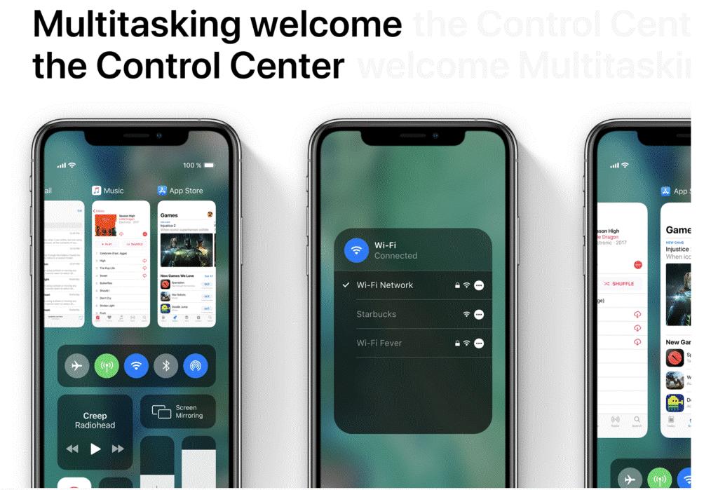 iOS 13 Multitasking Control Center