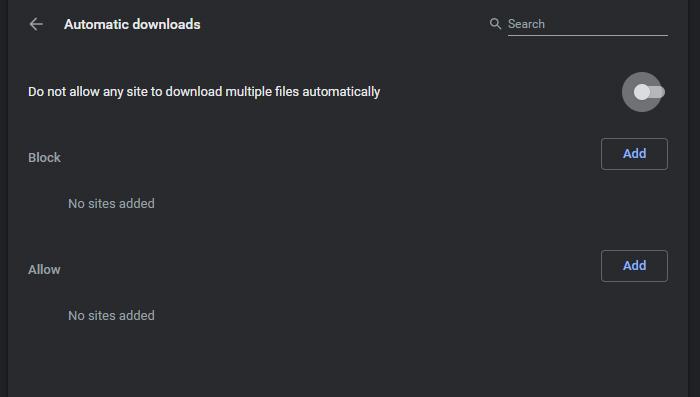 Disabling multiple downloads