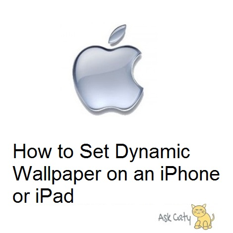 How to Set Dynamic Wallpaper on an iPhone or iPad