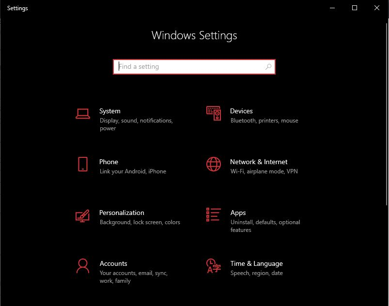 Personalization in Windows Settings