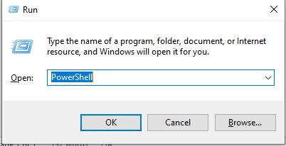 Run Windows PowerShell