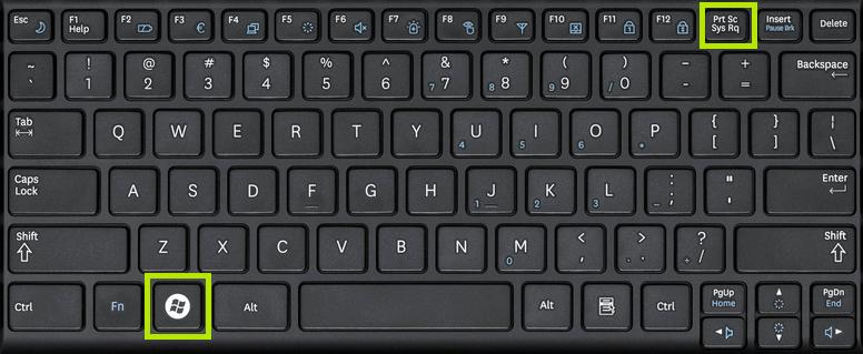 Take Screenshots in Windows 10