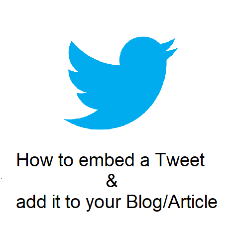 How to embed a Tweet & add it to your Blog/Article