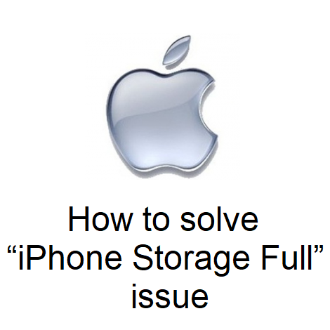 """How to solve """"iPhone Storage Full"""" issue"""