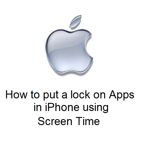 How to put a lock on Apps in iPhone using Screen Time