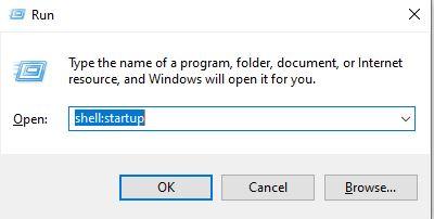 open the startup folder