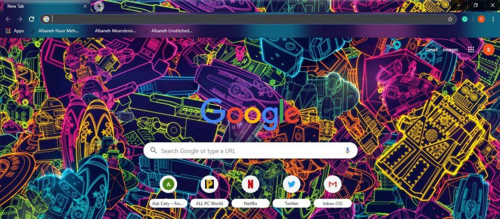 Enjoy the Google Chrome Theme