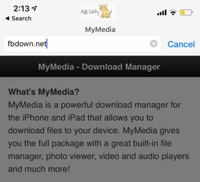 How to Download Facebook Videos on iPhone 2