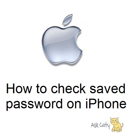 How to check saved password on iPhone