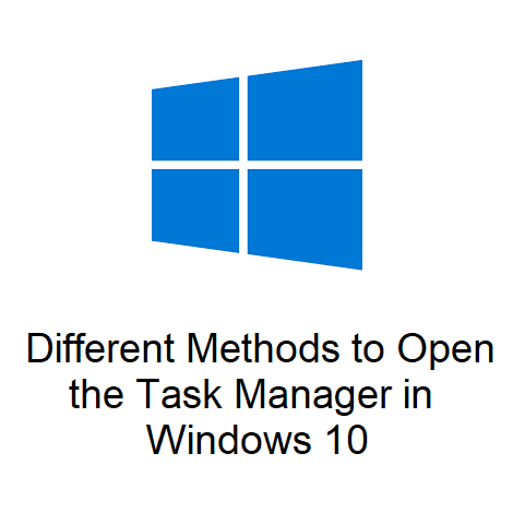 Different Methods to Open the Task Manager in Windows 10